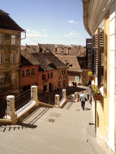 Sibiu, looking away from Old Center
