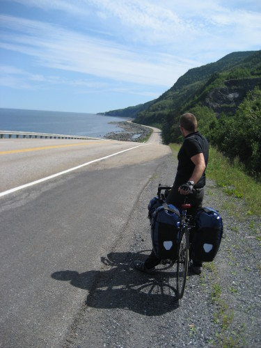 August 12, 2007 - some of the best biking in Gaspe - photo by C.S.
