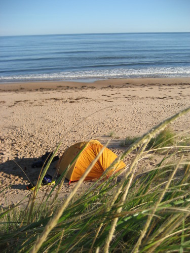 August 28, 2007 - camping on Greenwich beach - photo by C.S.