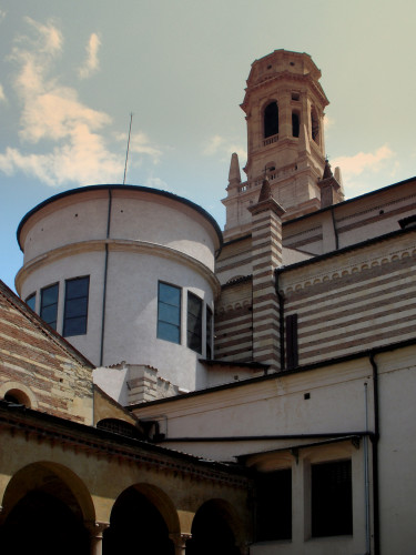 Sanmicheli's bell tower, from the Cloister