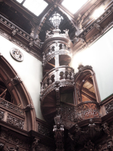 Stair inside Peles Castle